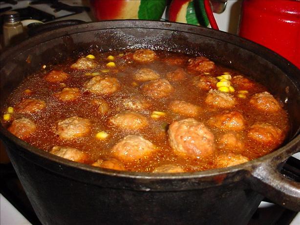 Magic Mexican Meatball Soup
