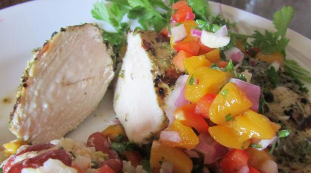 Lubbers Jerk Chicken With Peach Salsa