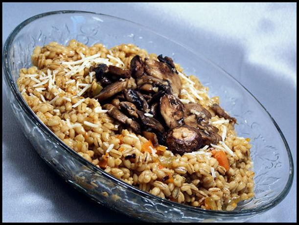 Pearl Barley Risotto (orzotto) With Sauteed Mushrooms