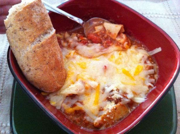 Lasagna Cheese Soup