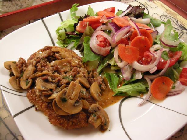 Jägerschnitzel (Pork or Veal Cutlets in Mushroom Gravy)
