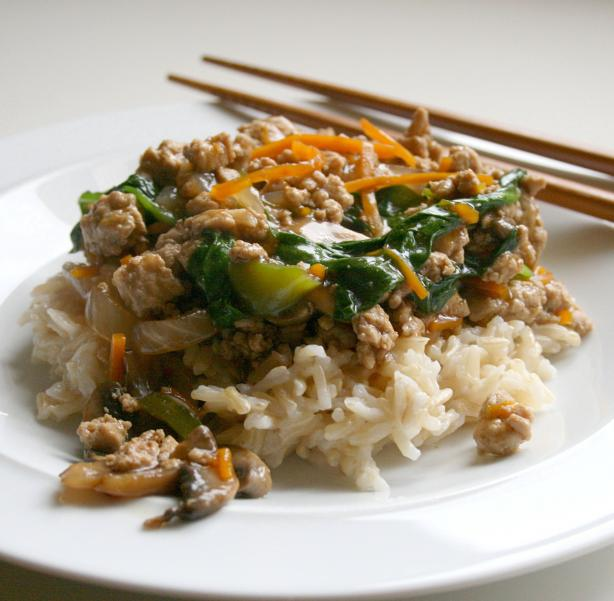 Sweet and Spicy Ground Turkey Stir-Fry