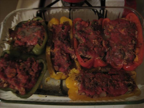 Vegan Vegetable Stuffed Bell Peppers