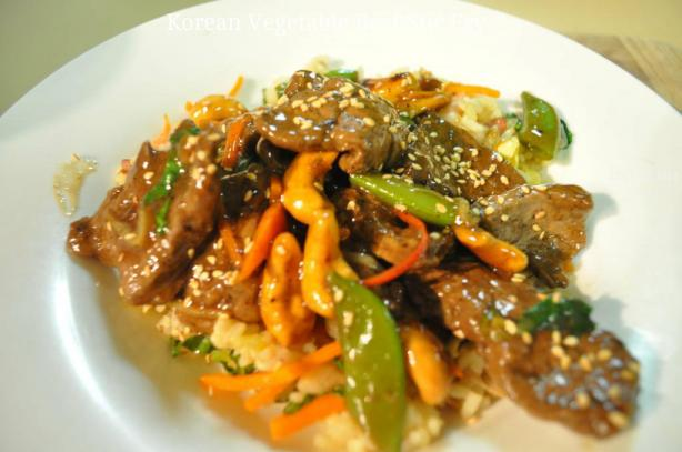 Korean Vegetable-Beef Stir Fry