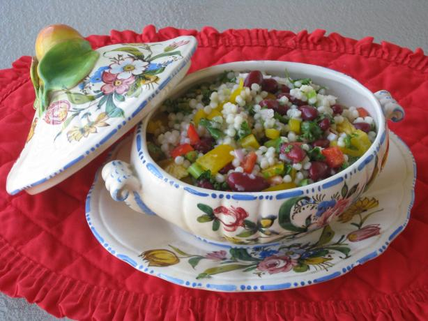 Israeli Couscous Pepper Salad