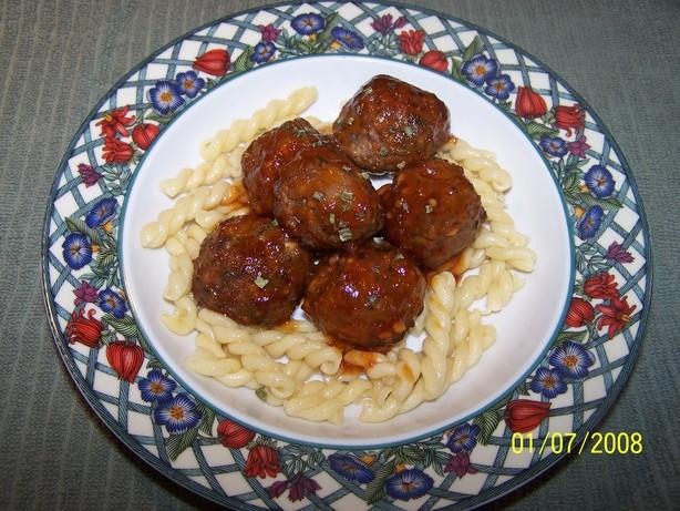 Tomato Glazed Meatballs