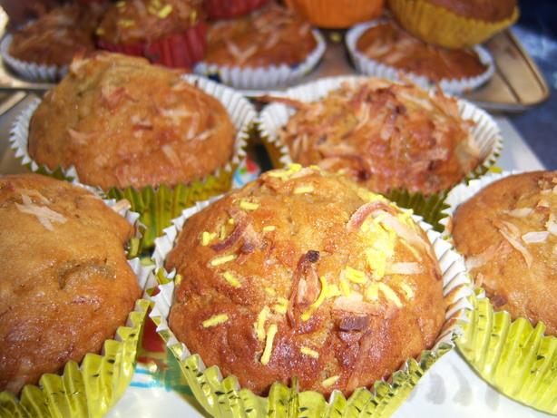 Banana Piña Colada Muffins