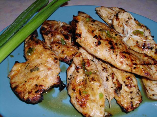 Sweet and Spicy Grilled Chicken With Green Onions