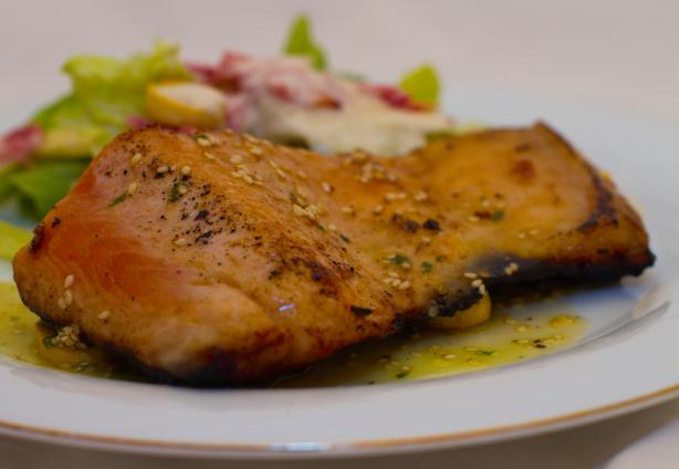 Stream Skillet Salmon With Mirin - Longmeadow Farm