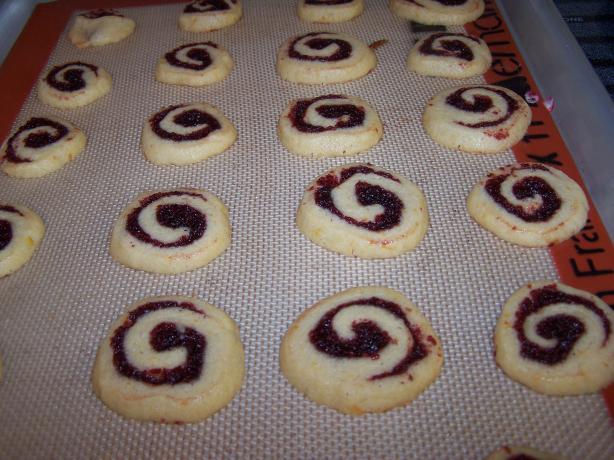 Cranberry Cherry Pinwheel Christmas Cookies