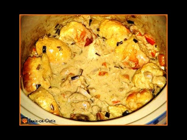 Crock Pot Chicken With Bread Bowl Dumplings