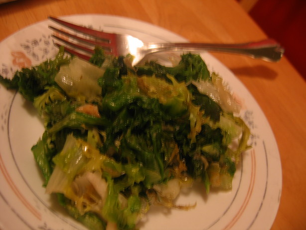 Escarole and Garlic Saute