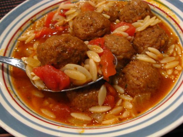 Meatballs & Orzo