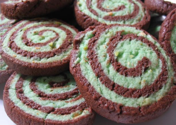 Cocoa Pistachio Pinwheels