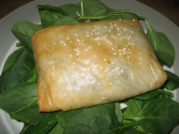 Chicken, Cheese and Mushroom Strudels