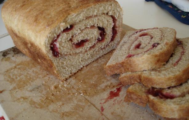 Rosy Swirl Cranberry Bread