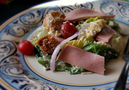 BBQ Ham Caesar Salad