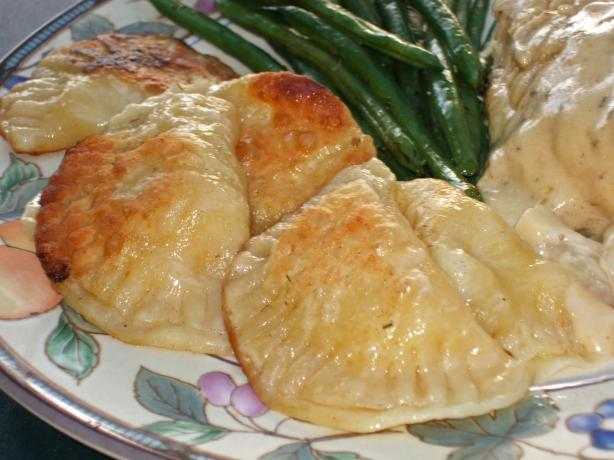 Mustardy Potato Pierogies