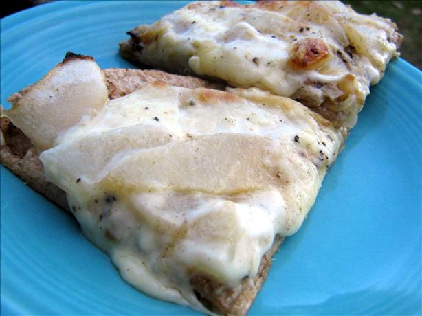 Pear and Caramelized Onion Pizzette