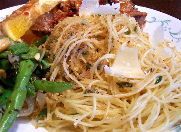 Spicy Capellini With Scallions and Garlic