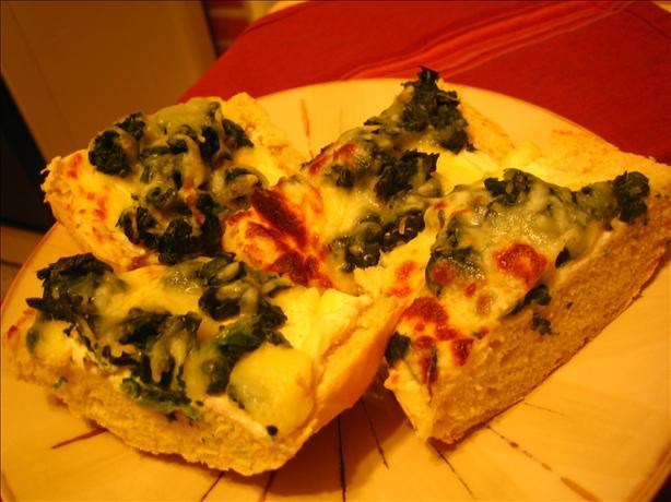 Mozzarella and Spinach Crostini