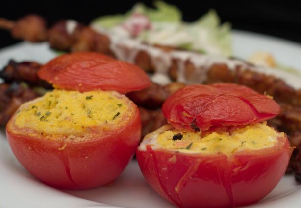 Tomatoes With a Polenta Filling