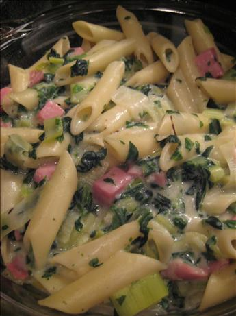 Ham, Spinach, and Mostaccioli Casserole