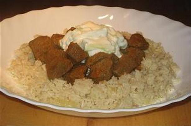 Lamb Curry With Fragrant Rice and Raita