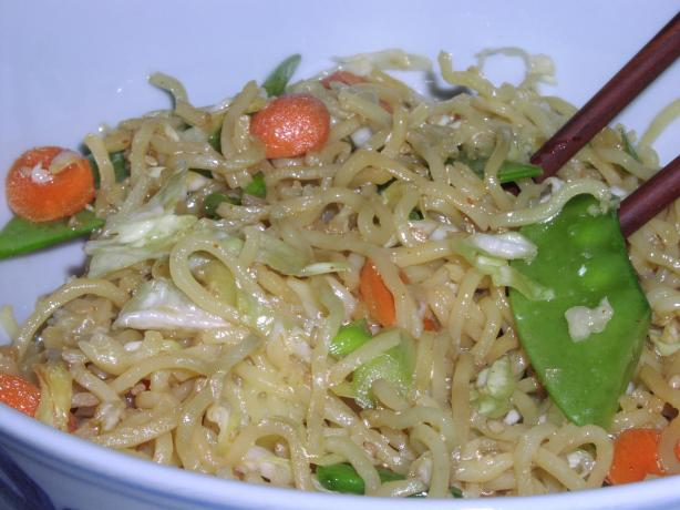 Oriental Cold Noodle Salad (Low Fat/Vegetarian)