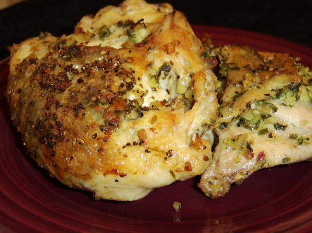 30-Minute Garlic-Almond Chicken Under a Brick