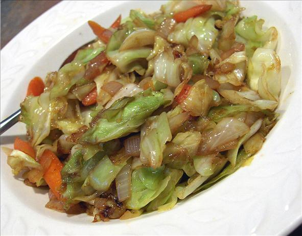 Sweet and Sour Cabbage and Carrots