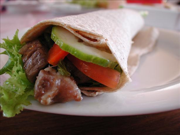 Moroccan Lamb Salad Wraps