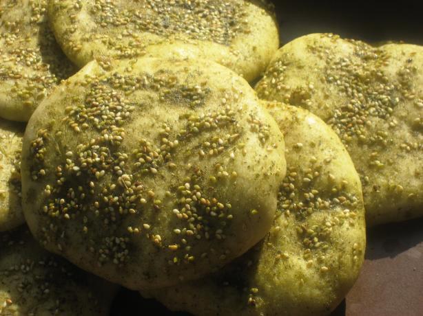Manakeesh Bil Za'atar (Flat Bread With Za'atar)