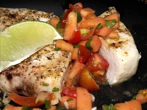 Quick Grilled Swordfish With Papaya Salsa