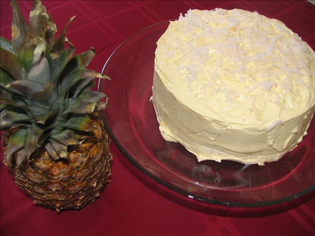 Hula Hula Cake W/ Cool Whip Frosting