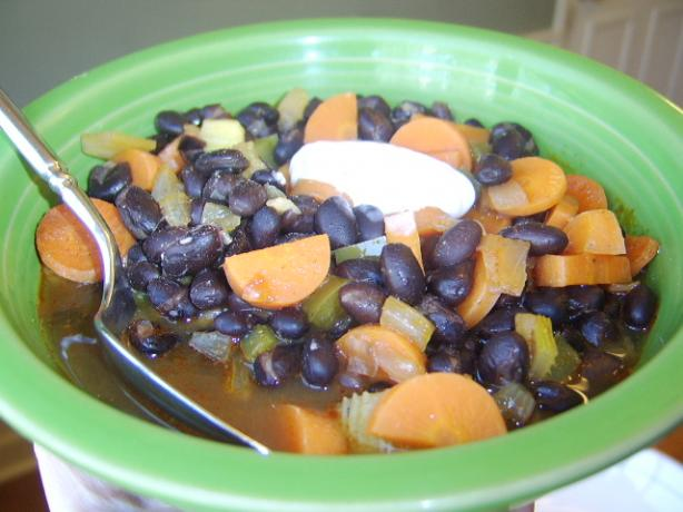Black Bean Soup With Cumin and Coriander