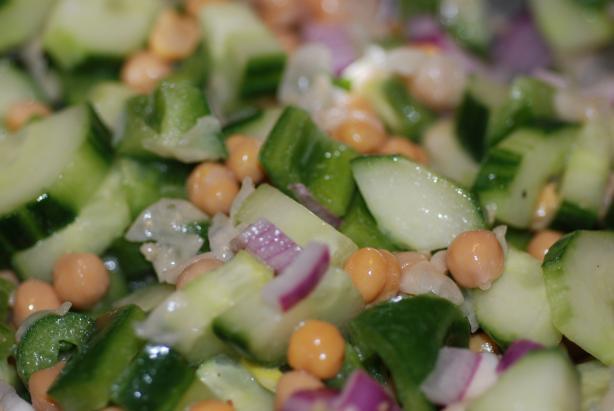 Sesame Garbanzo Cucumber Salad