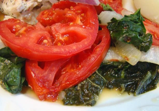 Swiss Chard With Tomato and Bacon