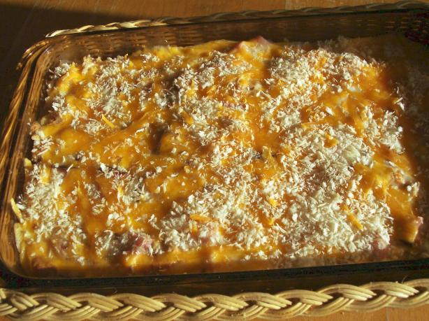 Light Ham and Cheese Casserole