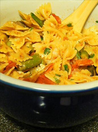 Garlicky Shrimp Veggy Pasta