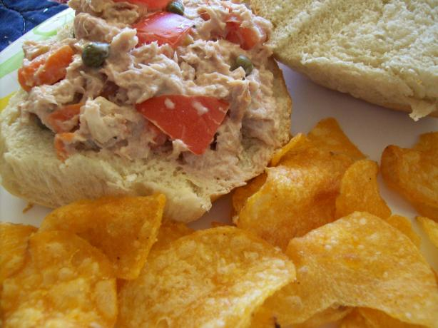 Tomato-Studded Tuna Salad Sandwiches