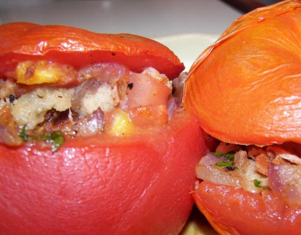 Savoury Filled (Stuffed) Tomatoes