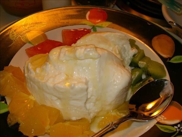 Yogurt and Honey Panna Cotta