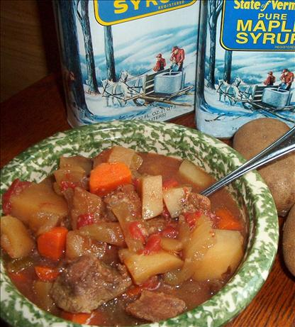 Maple Syrup Beef Stew