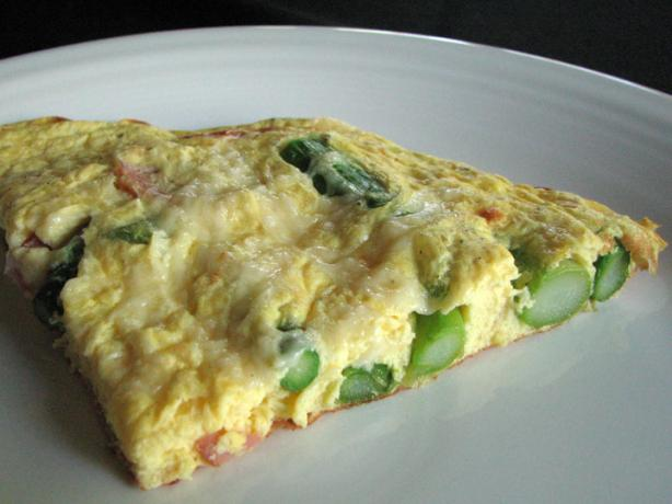 Frittata With Asparagus, Canadian Bacon and Parmesan