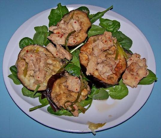 Scenter Steamed Eggplant (Aubergine) With Chicken.