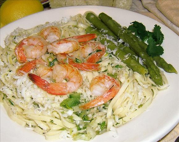Lemon Linguini (With Shrimp)