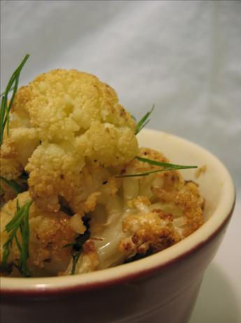 Lemon Roasted Cauliflower With Dill