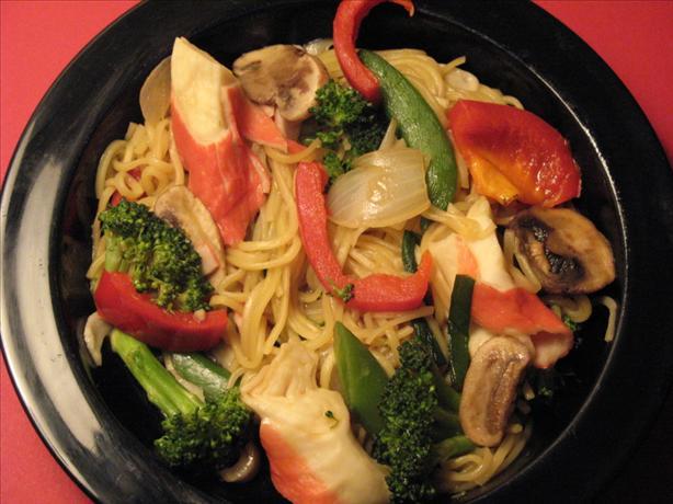 """"""" Crab"""" Noodle Bowl"""