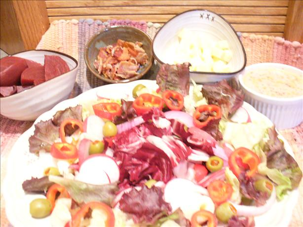 The Ravishing Reds Salad With Red Hots Dressing